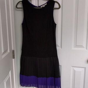 Loft drop waist pleated dress